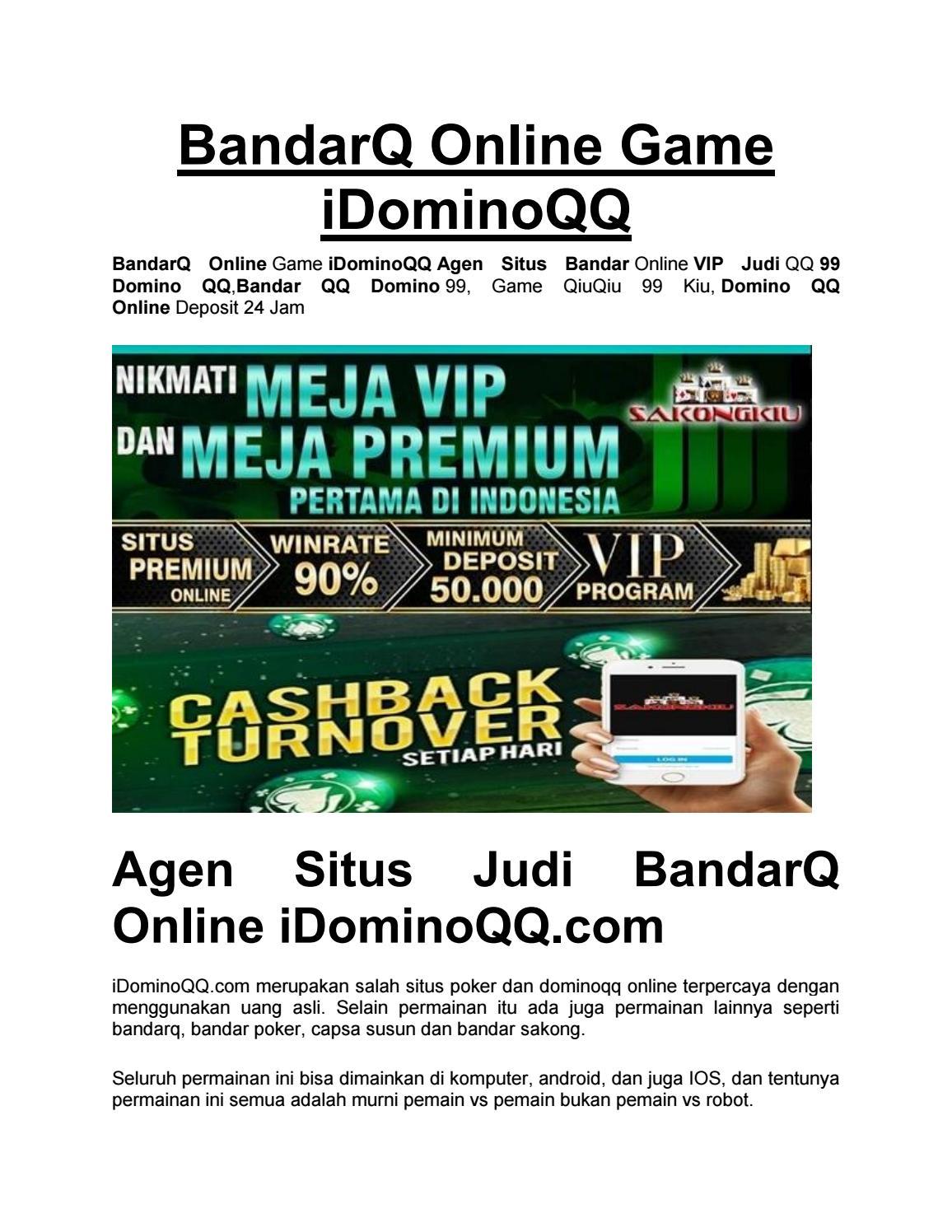 Bandarq Online Game Idominoqq By Wdominoqq Issuu