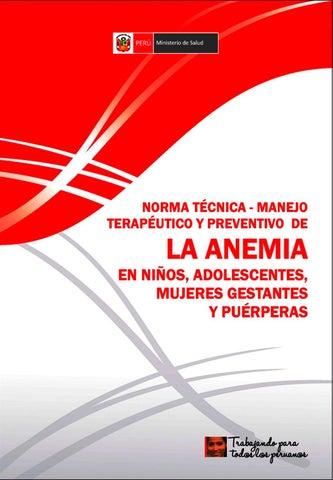 anemia en niños de un año