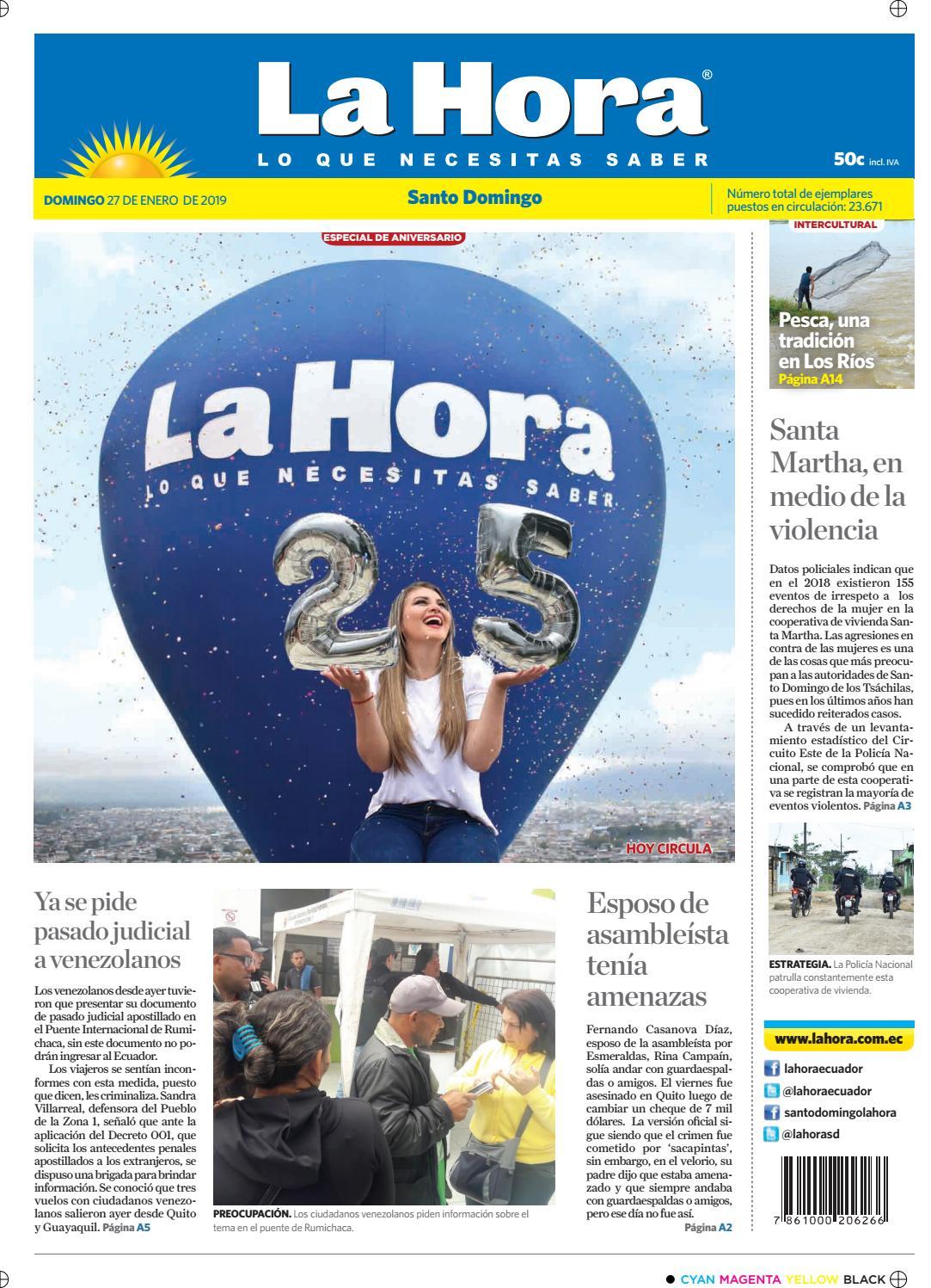 3468190e40cae Santo Domingo 27 de enero de 2019 by Diario La Hora Ecuador - issuu