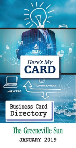 Business Card Directory January 2019 By The Greeneville