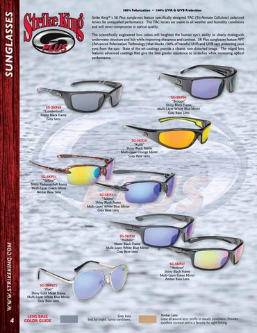 7d5f1937b8 100% Polarization • 100% UVA   UVB Protection. Strike King® s SK Plus  sunglasses ...