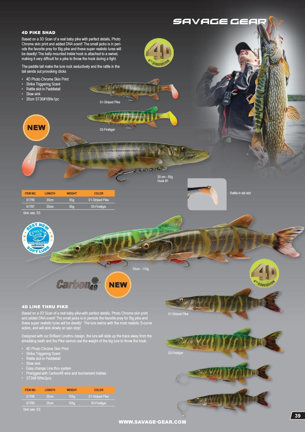 Savage Gear 4D Line Thru Pike 25cm 110g SS