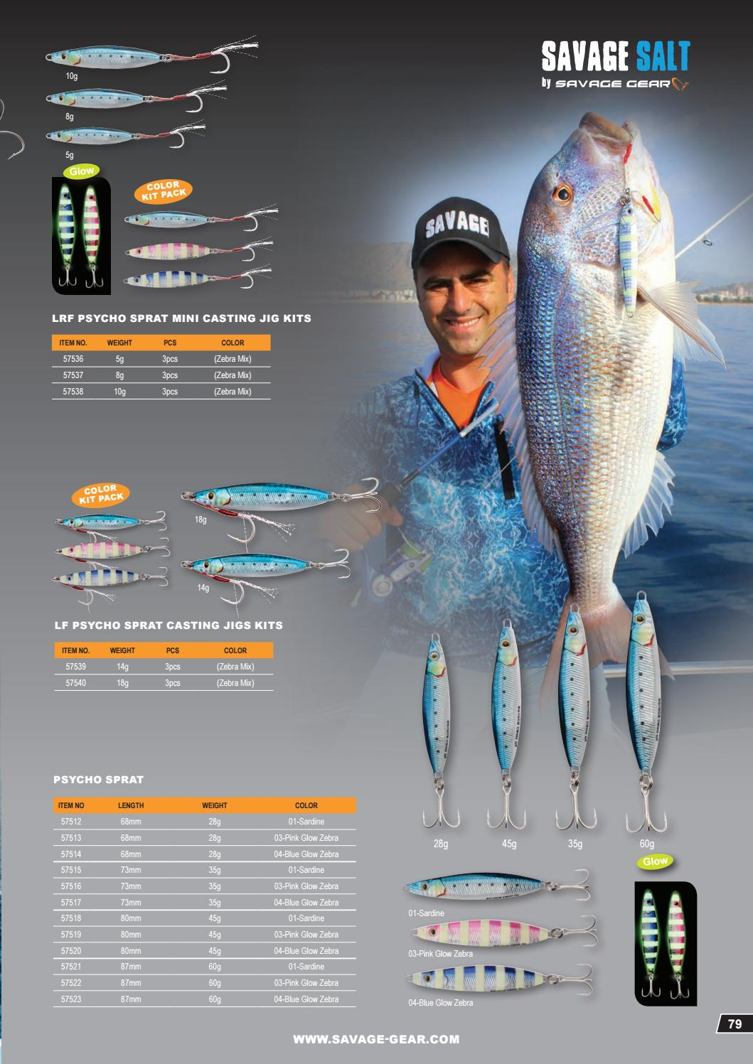 All Colours! Savage Gear Saltwater Tuned Prey 80-80mm