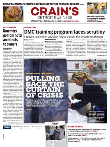 Crain's Detroit Business, Jan  28, 2019 issue by Crain's Detroit