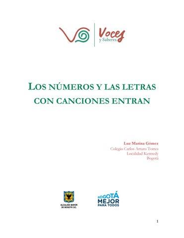Los Números Y Las Letras Con Canciones Entran By Voces Y Saberes Issuu