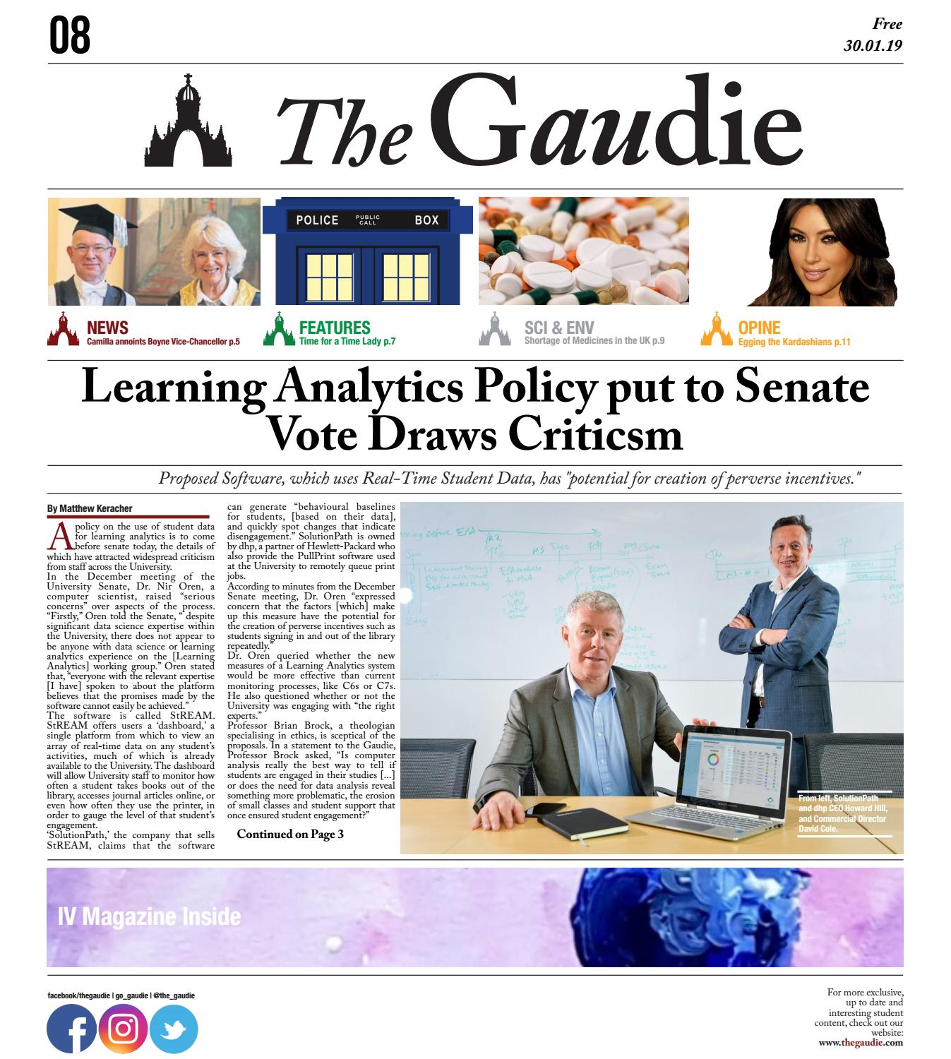 The Gaudie - 30 01 19 by The Gaudie - issuu