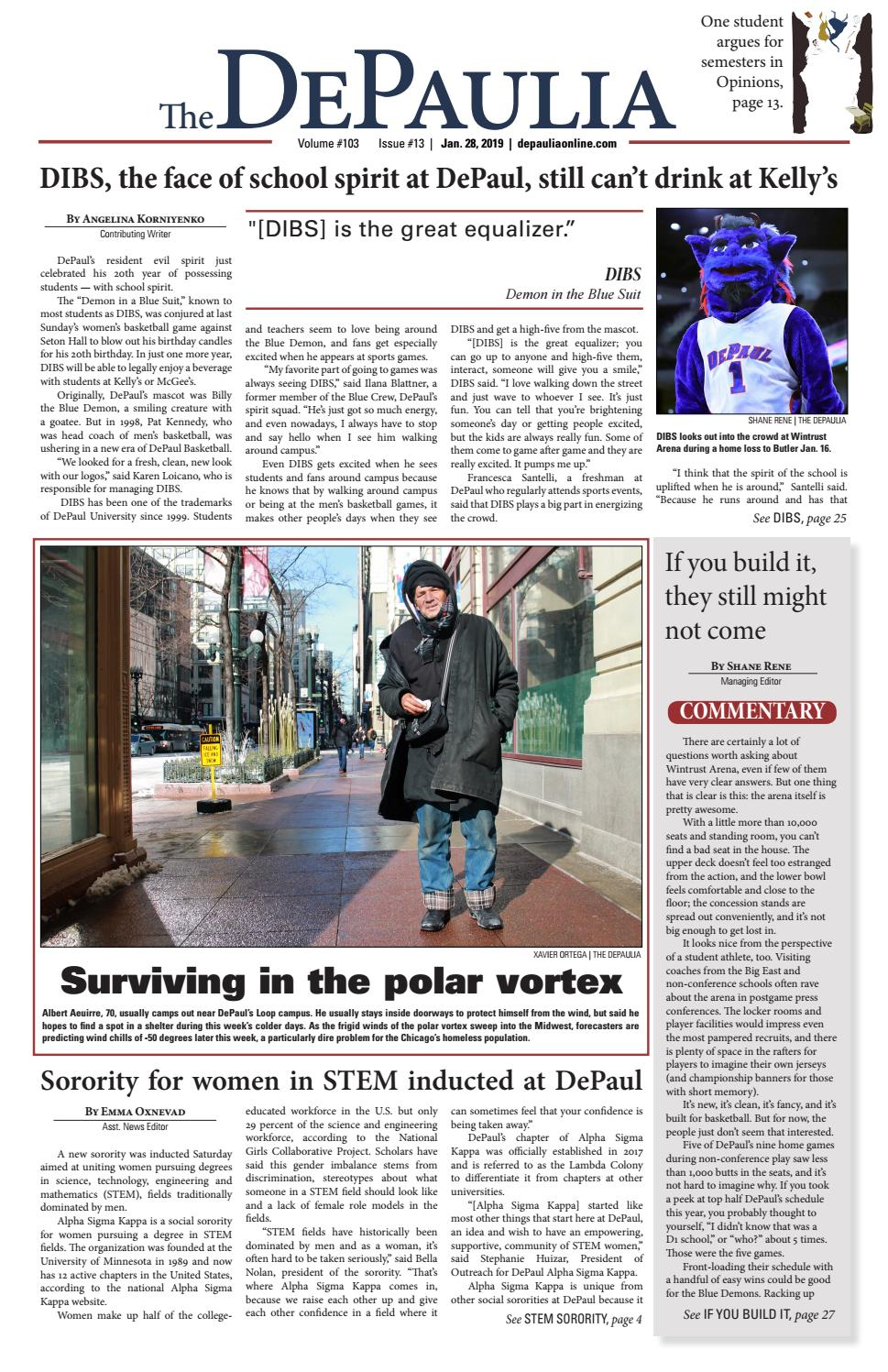 The DePaulia 1/28 by The DePaulia - issuu