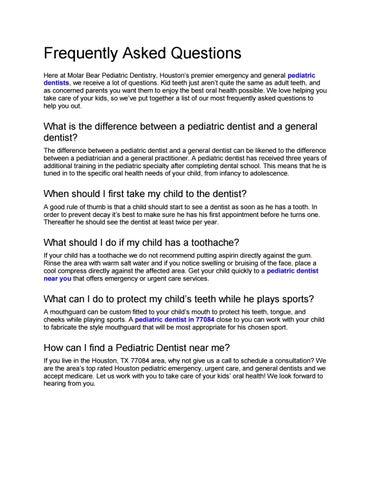 Molar Bear Pediatric Dentistry by Children's Dentist in