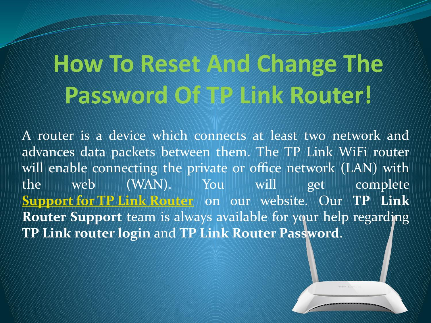 How To Reset And Change The Password Of TP Link Router! by