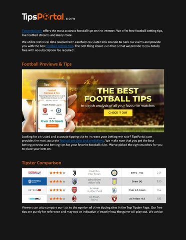 Football Betting Tips - Football Predictions – TipsPortal