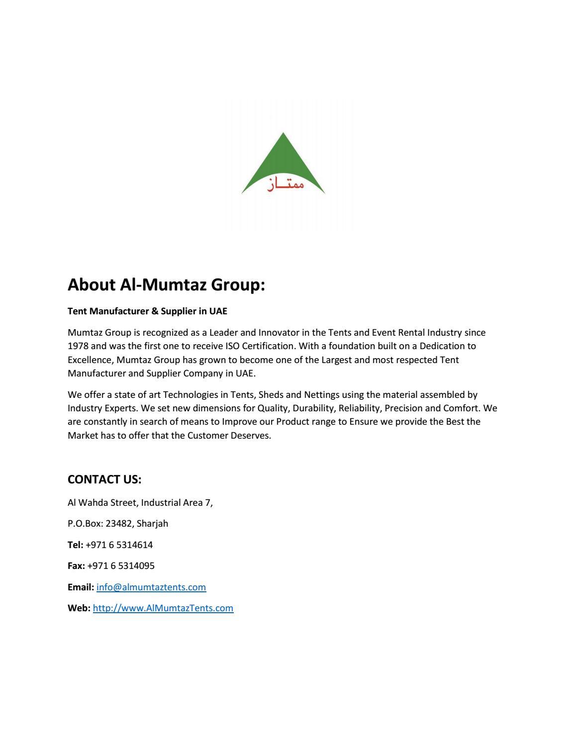 About Al-Mumtaz Group by AlMumtaz Tents - issuu