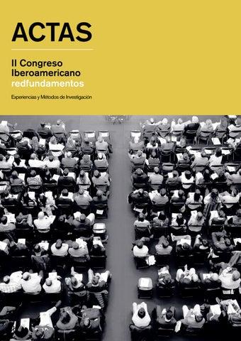 Actas Ii Congreso Iberoamericano Redfundamentos By