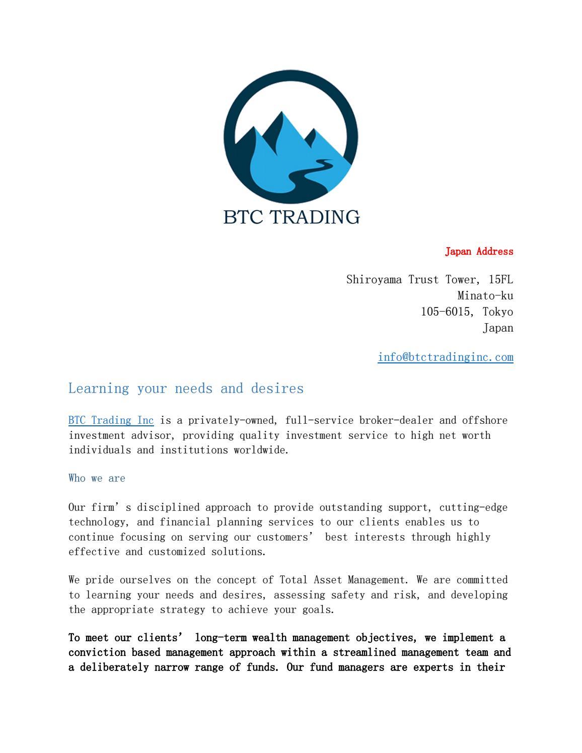 btc management inc