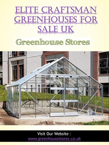 Elite Craftsman Greenhouses for Sale UK by Greenhouse Sale