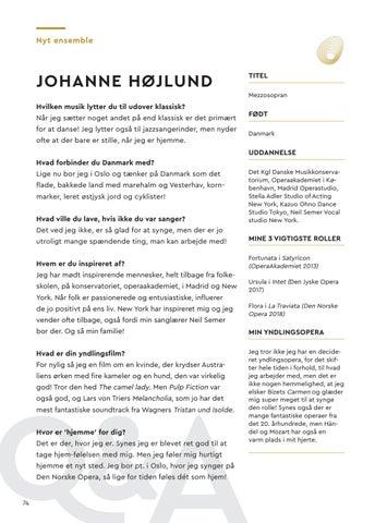 Page 76 of Johanne Højlund, medlem af Det nye ensemble, Den Jyske Opera