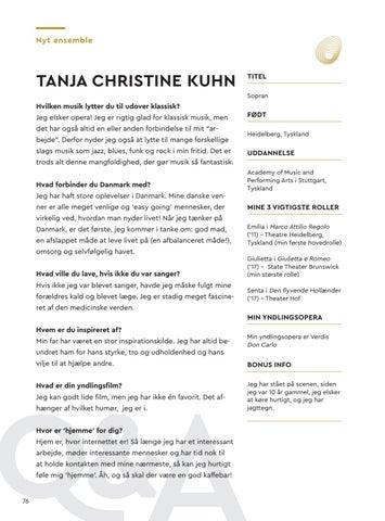 Page 78 of Interview med Tanja Christine Kuhn, Den Jyske Operas nye ensemble