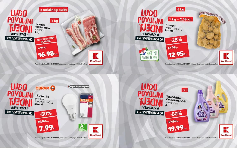 Kauflandovi ludo povoljni tjedni vam donose nova sniženja za početak tjedna od 28.- 30.01.2019. u svim Kaufland supermarketima.