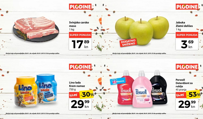 Top ponude za početak tjedna! Od ponedjeljka do srijede, 28.- 30.01.2019.  iskoristite nove popuste i kupujte povoljnije u Plodine supermarketima.