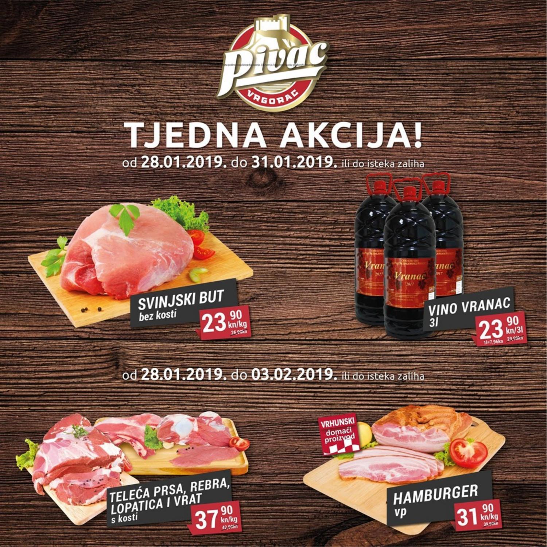 Nova tjedna sniženja od 28.01.- 03.02.2019. u Pivac prodajnim centrima!