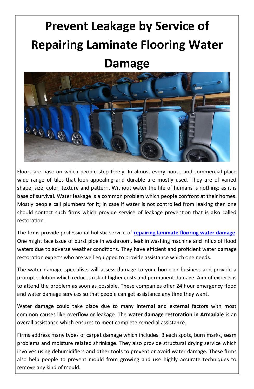 Prevent Leakage By Service Of Repairing Laminate Flooring Water