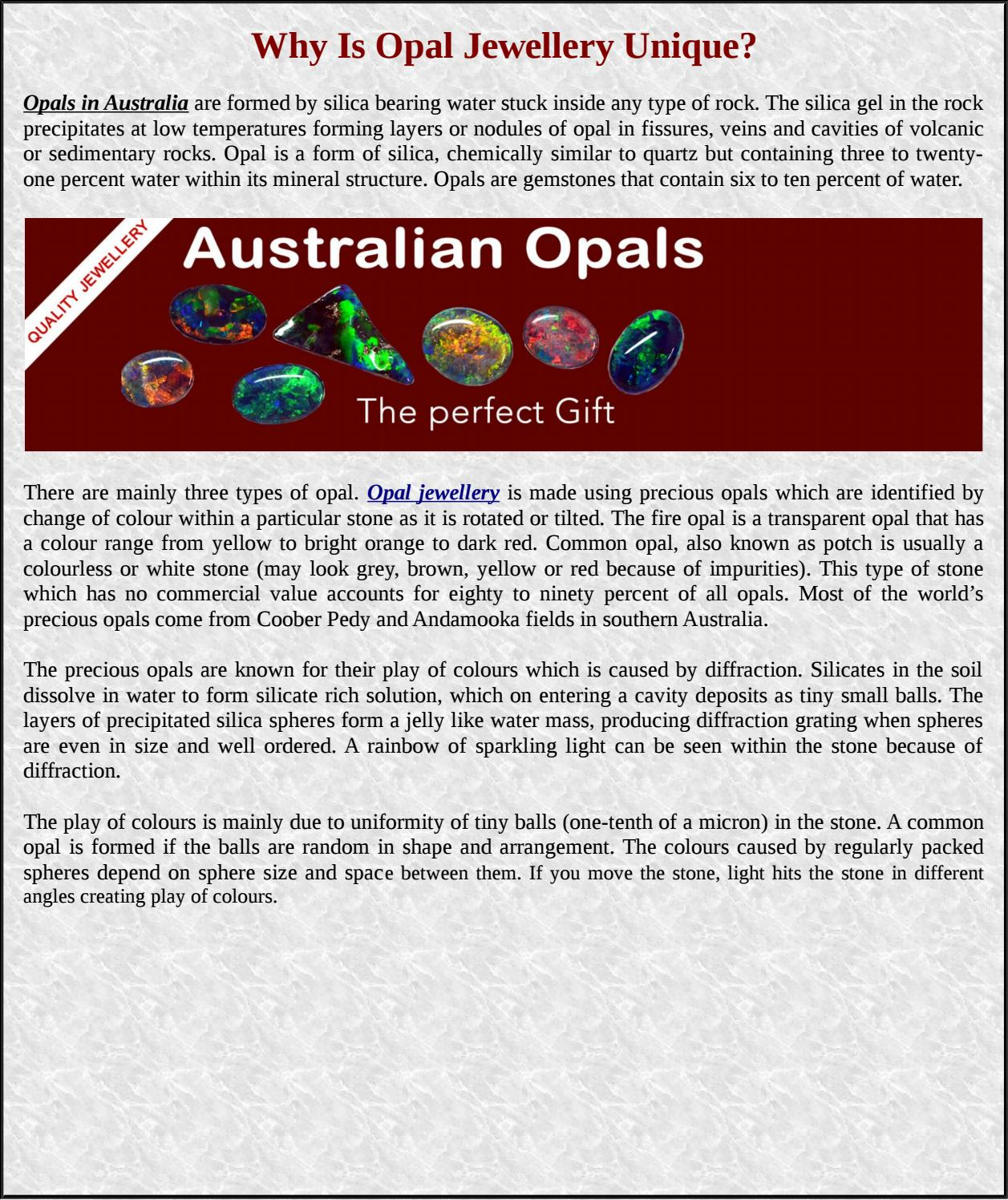 Why Is Opal Jewellery Unique? by opalshopsau - issuu
