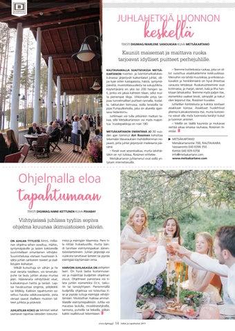 Page 14 of Juhlahetkiä luonnon keskellä