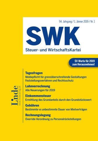 Swk Heft 1 2019 By Linde Verlag Gmbh Issuu