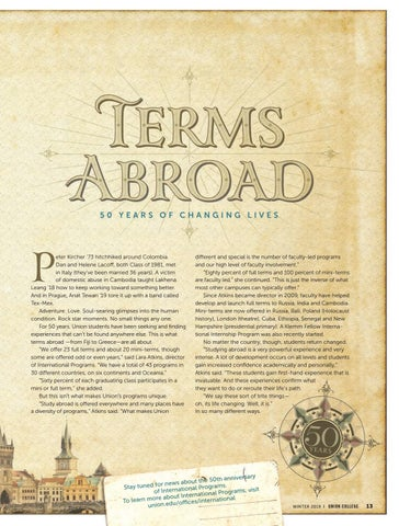 Page 15 of Terms abroad: 50 years of changing lives