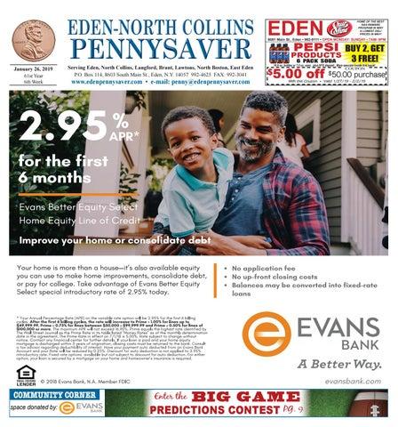 40bb0d945a50 Eden- North Collins Pennysaver 1-26-19 by Eden- North Collins ...