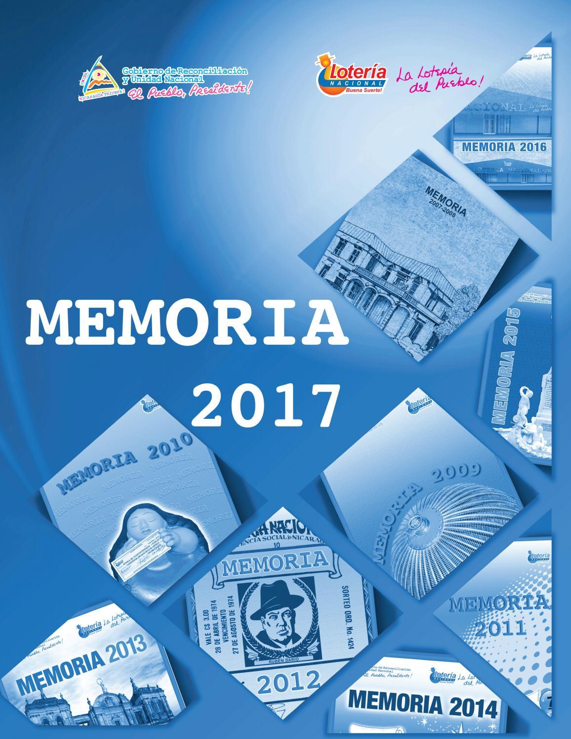 Memoria Institucional 2017 By Loteria De Nicaragua Issuu