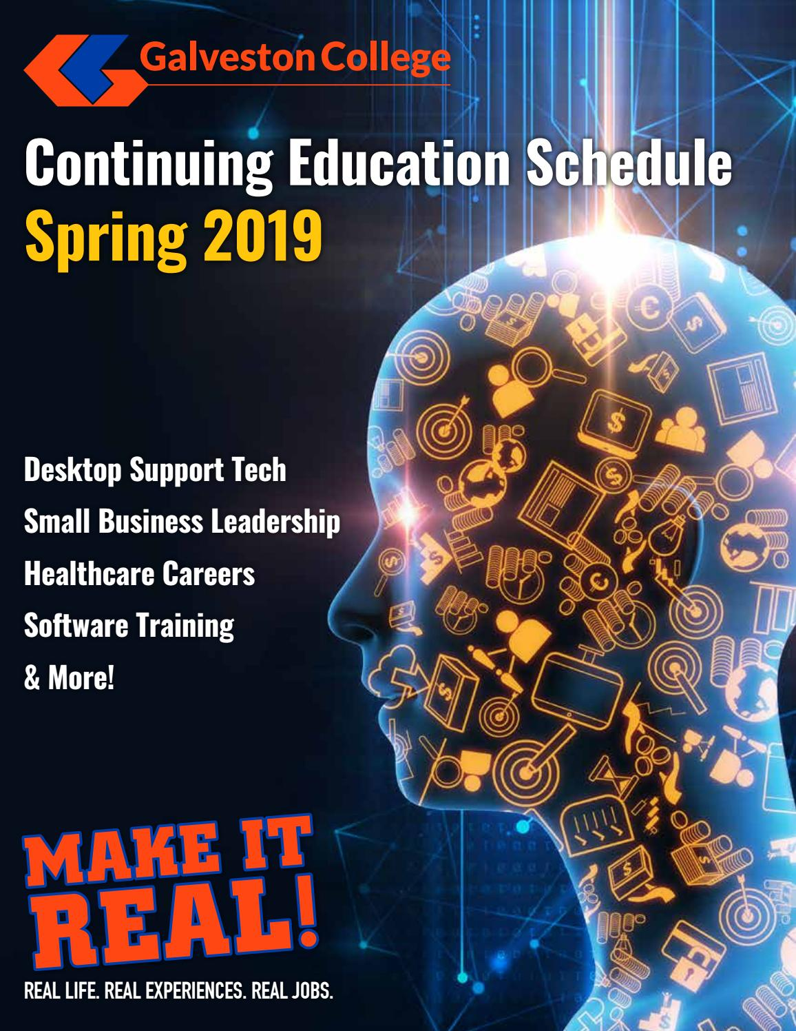 2019 Galveston College Continuing Education Schedule by
