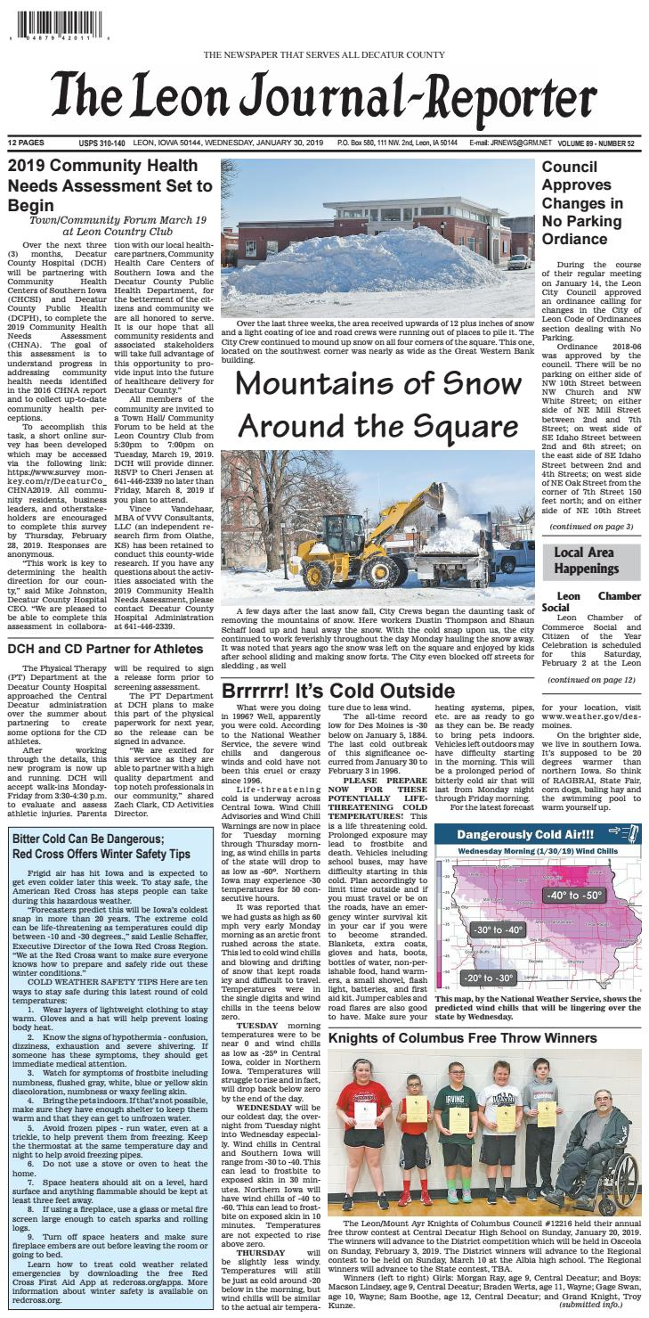 The Leon Journal-Reporter - January 30, 2019 by Tonya Kunze Lindsey United Pacific Wiring Diagram on