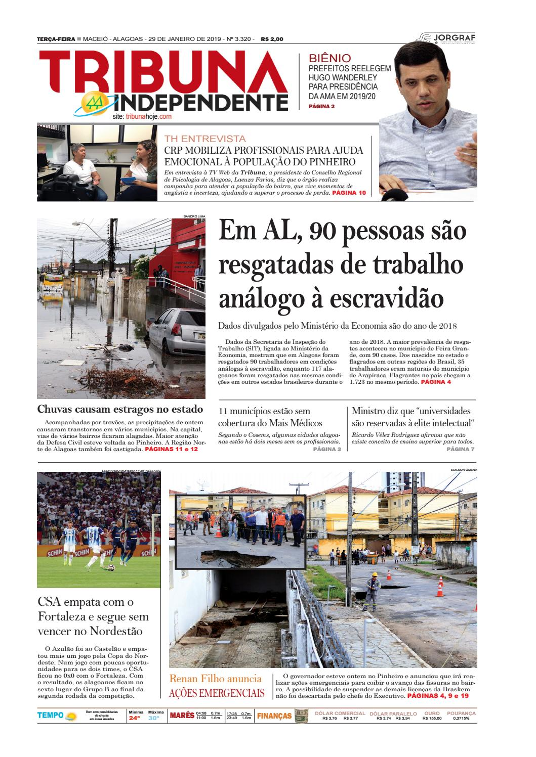 8e534c79da928 Edição número 3320 - 29 de janeiro de 2019 by Tribuna Hoje - issuu