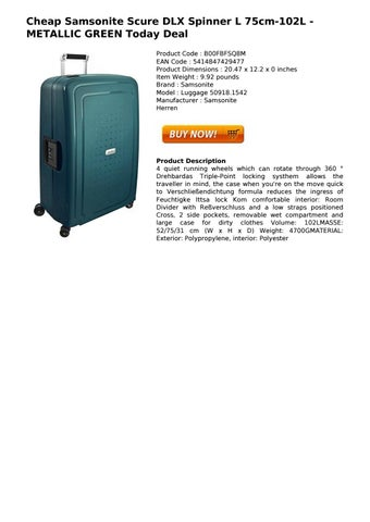 29776c710 cheap samsonite scure dlx spinner l 75cm 102l metallic green today deal