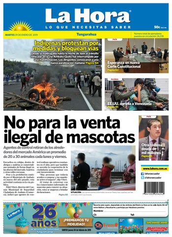 TUNGURAHUA 29 DE ENERO DE 2019 by Diario La Hora Ecuador - issuu f34cbd3cc7e