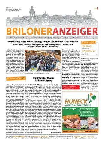 Briloner Anzeiger Ausgabe Vom 30012019 Nr4 By Brilon Totallokal