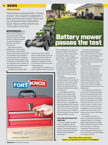 Page 28 of Battery mower passes the test