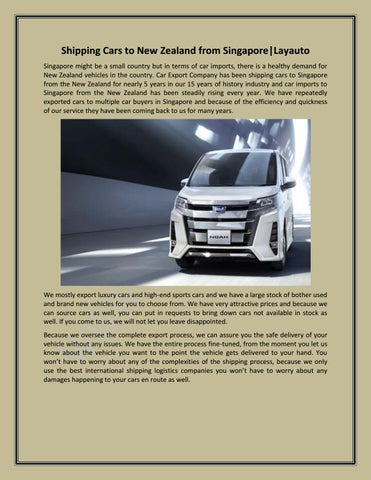 Shipping A Car/page/2 >> Shipping Cars To New Zealand From Singapore Layauto By
