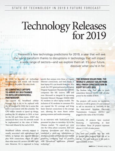Page 23 of Technology releases for 2019