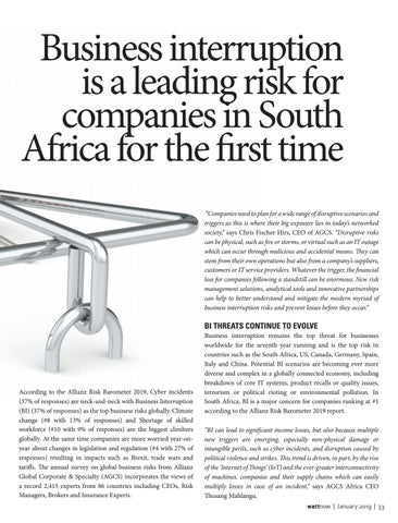 Page 33 of Business Interruptions a risk in SA