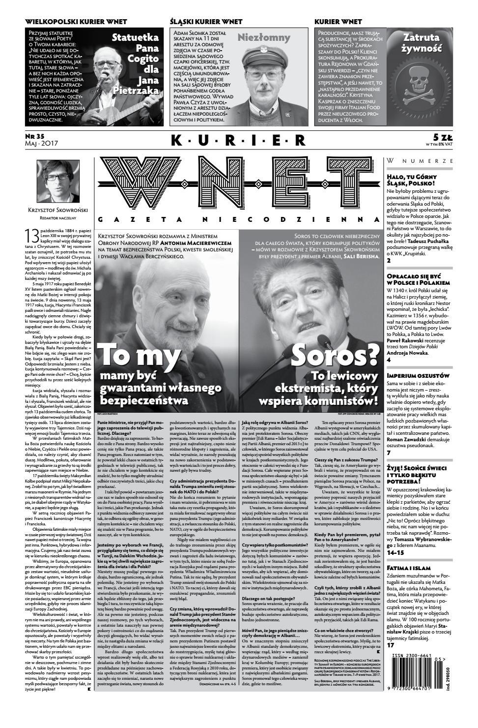 918c87fc2cd935 Kurier WNET Gazeta Niecodzienna | Nr 35| Maj 2017 by KurierWNET - issuu