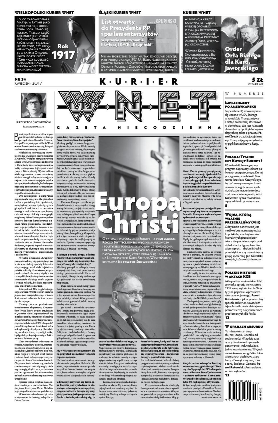 d3bb542fecb78a Kurier WNET Gazeta Niecodzienna | Nr 34 | Kwiecień 2017 by KurierWNET -  issuu
