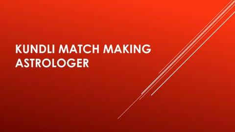 Kundli match gör online gratis