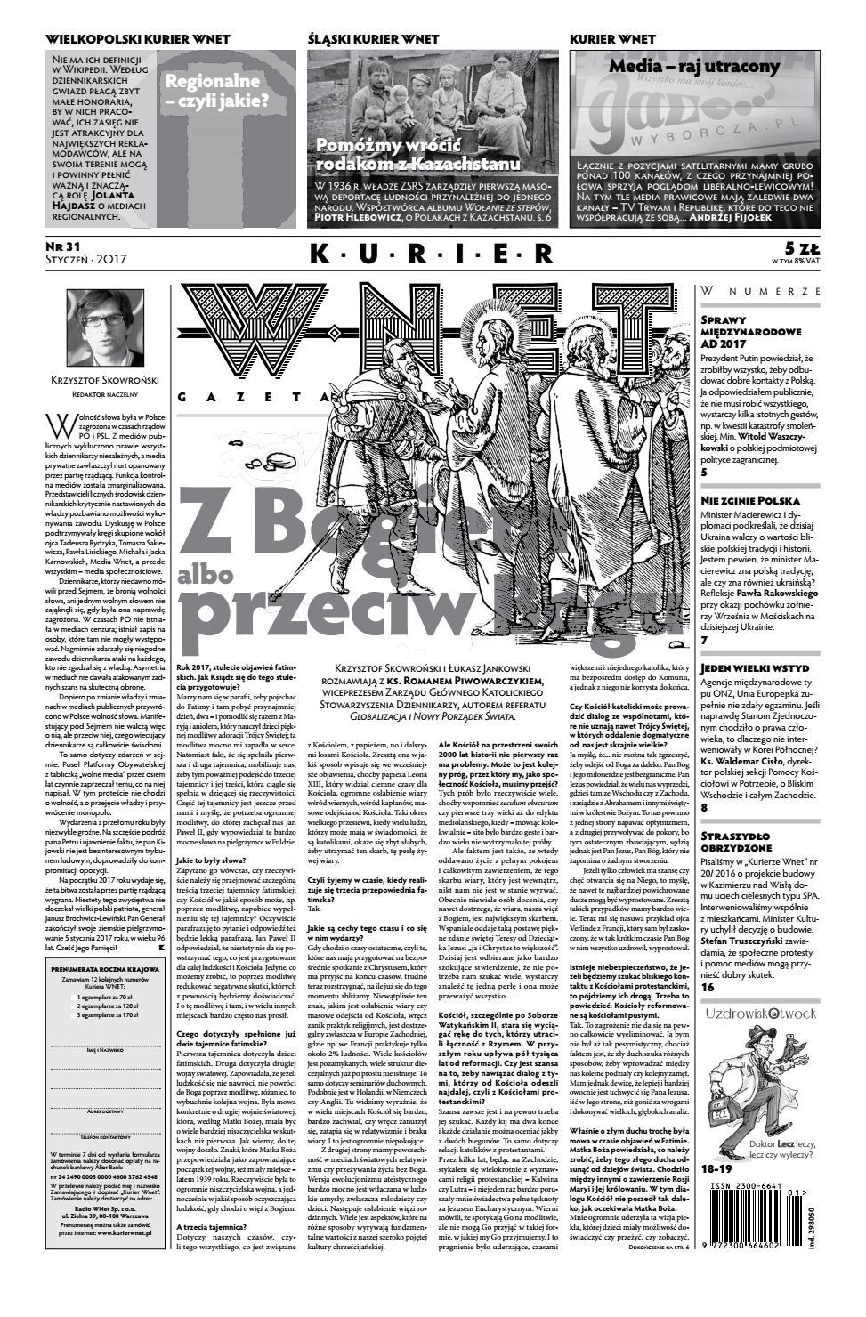 a5219f5e33368e Kurier WNET Gazeta Niecodzienna | Nr 31 | Styczeń 2017 by KurierWNET - issuu