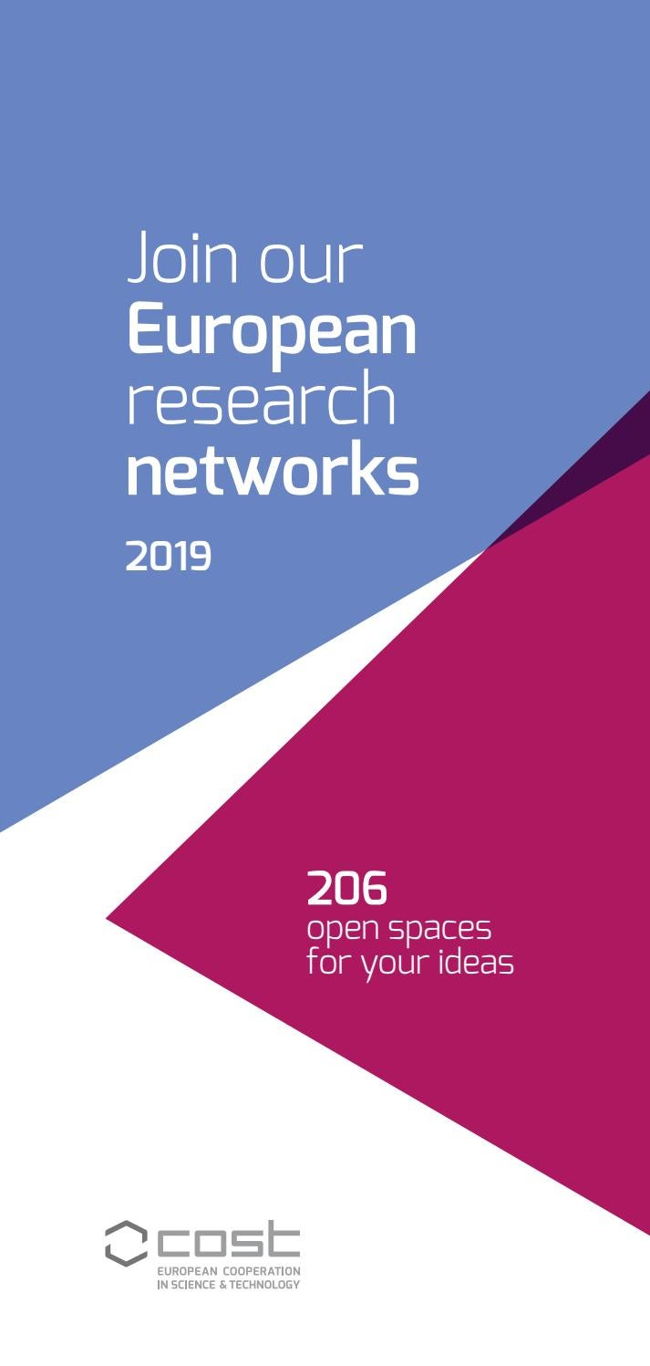 Join our European research networks - 2019 by European