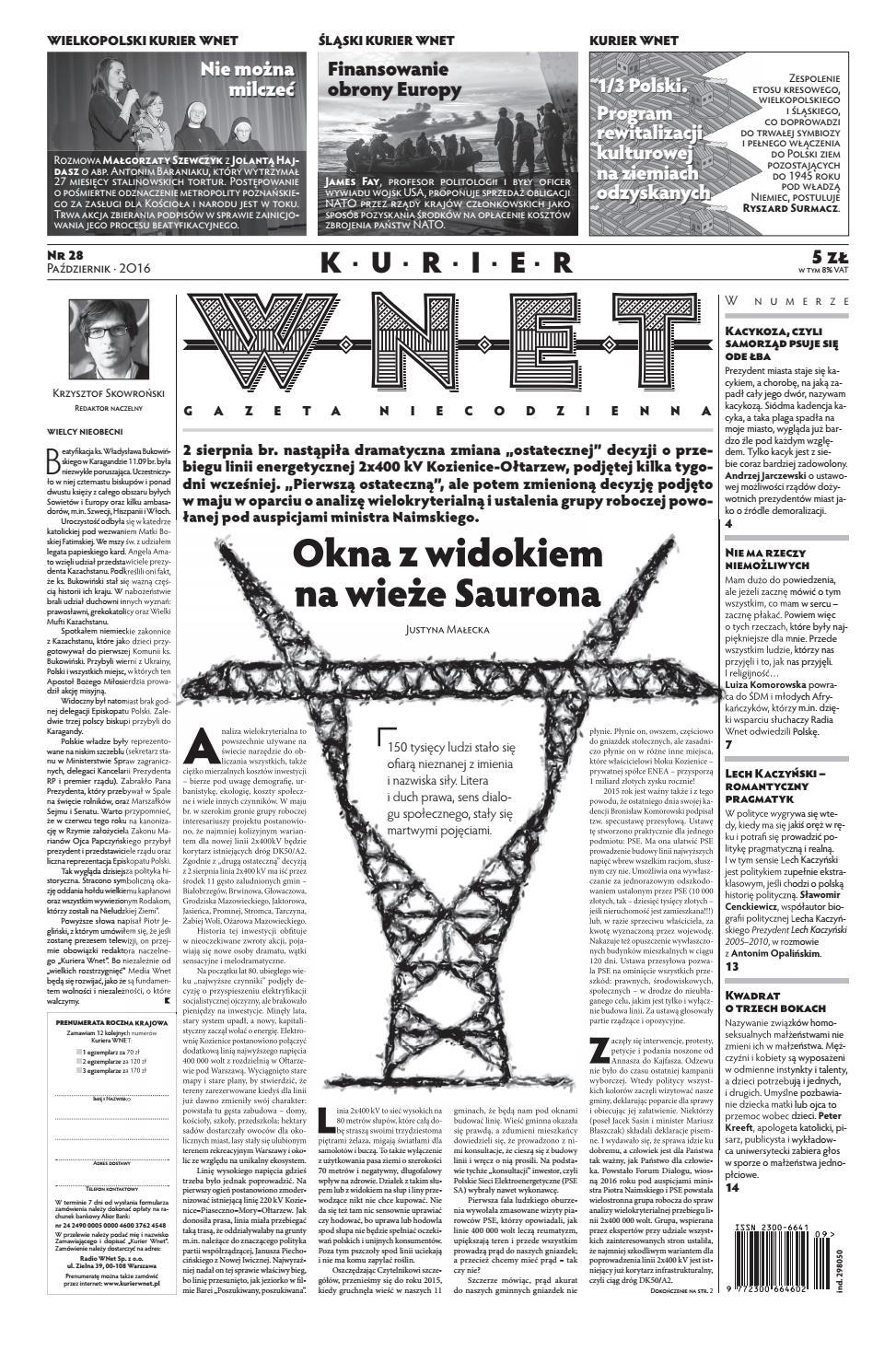 8f9d77e537517d Kurier WNET Gazeta Niecodzienna | Nr 28| Październik 2016 by KurierWNET -  issuu