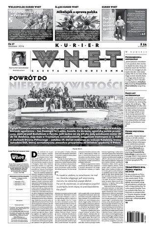 cd4f18248f1719 Kurier WNET Gazeta Niecodzienna | Nr 27| Wrzesień 2016 by KurierWNET ...