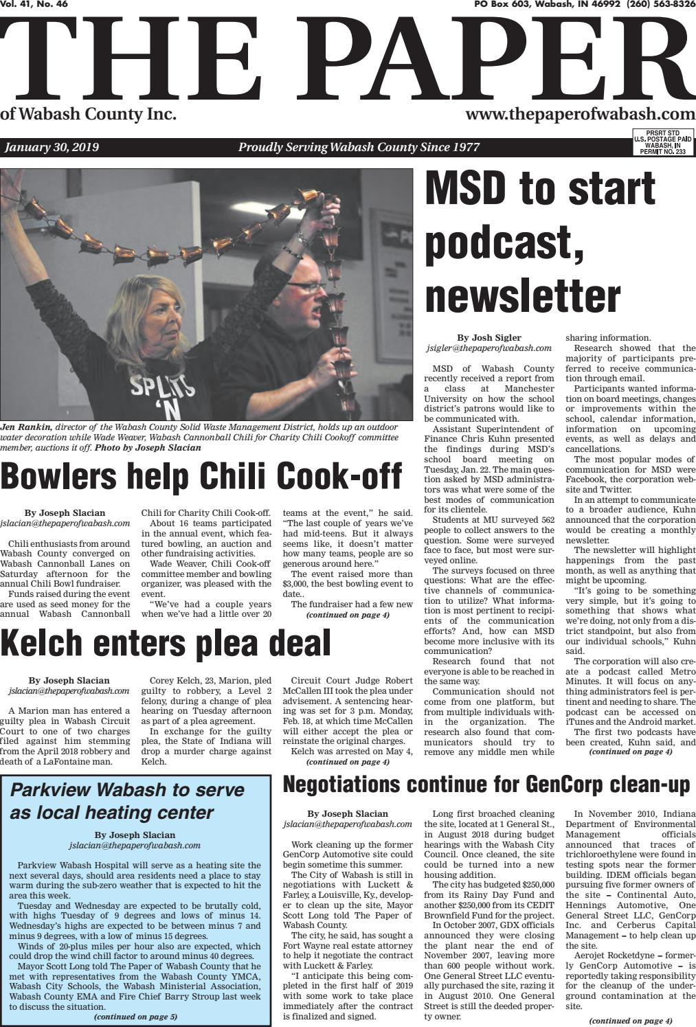 41b4e949e The Paper of Wabash County - Jan. 30, 2019 Issue by The Paper of ...