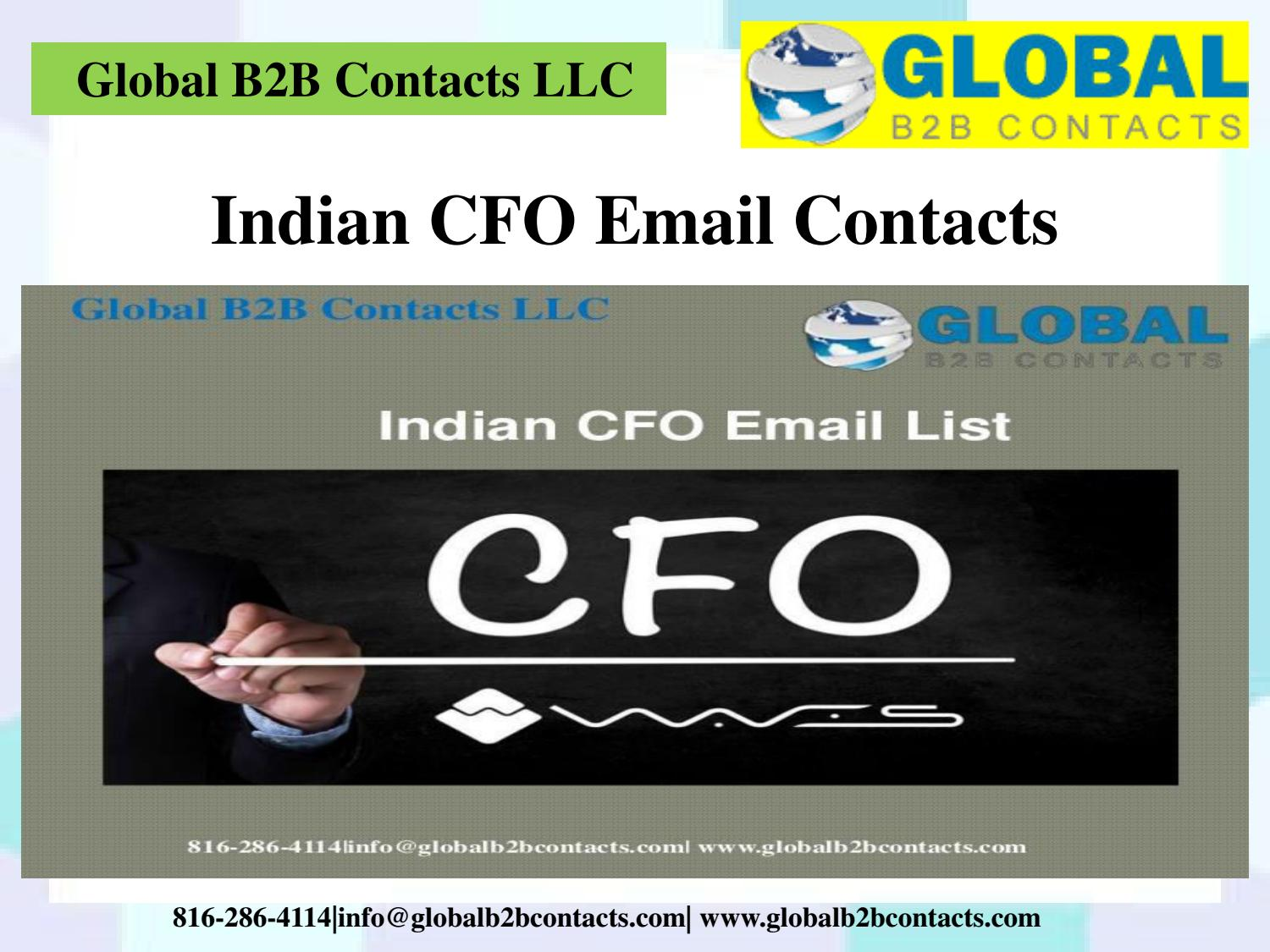 Indian CFO Email Contacts by Sofya Alissa - issuu