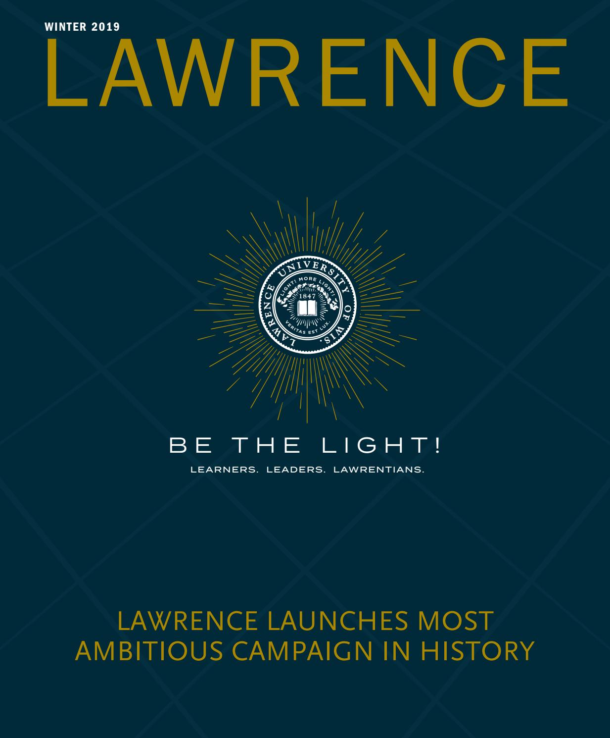 Lawrence Magazine Winter 2019 by Lawrence University - issuu